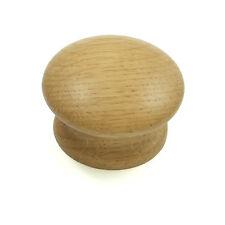 Solid Oak Door / Drawer Knob | Wooden Kitchen Cupboard Cabinet 44mm diameter