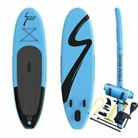 """10 FT Inflatable Stand Up Paddle Board Surfing SUP Boards Non-slip Deck 6"""" Thick"""