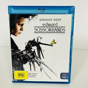 Edward Scissorhands (Blu Ray, 1990) Johnny Depp Region B Free Postage