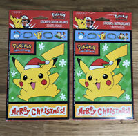 Pokemon Pikachu Vintage stickers Carlton Cards Lot 2 SEALED Packages Christmas