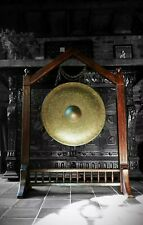 19th century BRONZE TEMPLE GONG Victorian aesthetic/ gothic revival, Buddhist