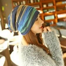 Women Pleated Turban Cap Beanie Head Wrap Scarf Hat Bonnet Lin