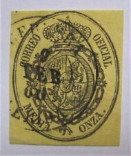 1855 Spain Official #O5 used FEB 9 1860