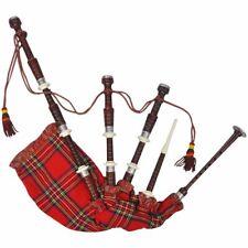 vidaXL Gaita escocesa modelo Great Highlands tartán real rojo de madera sheesham