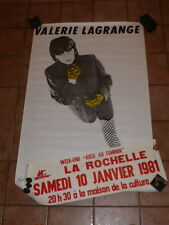 COLL.J. LE BOURHIS AFFICHES Music Rock VALERIE LAGRANGE 1981 La Rochelle 120x80