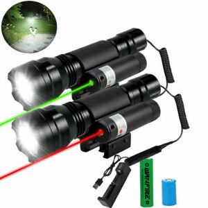 rot Grün Laser Anblick für Jagd Fit 20mm Picatinny Schiene & Taschenlampe Fackel