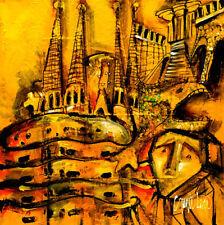 Barcelona - Contemporary MODERN painting ORIGINAL ABSTRACT FINE ART by SLAZO