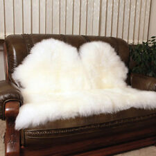 Premium Authentic Australian Sheepskin Rug Double side-by-side Ivory