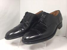 Beautiful J.M. WESTON Black Leather Cap-Toe Brogue Oxford ~ Size UK 6.5 E~US 7.5
