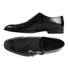 $1495 MSRP BRIONI Italy Leather Crocodile Double Monk Strap Loafers Shoes 9 1/2