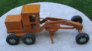 TONKA Road Grader Orange Pressed Steel Diesel No 600 Parts Restoration~Part c