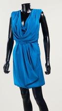 ELIE SAAB Haute Couture Magnifique robe de cocktail en soie bleu cyan - Neuve