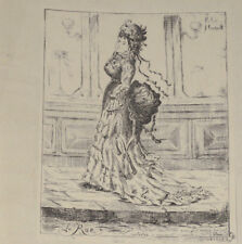 LA RUE Gravure Originale FELIX OUDART illustre Jules Vallès