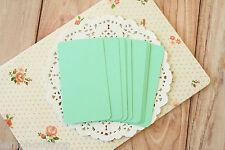 JADE Green Business Card blanks 50 handmade wedding DIY save the date name cards
