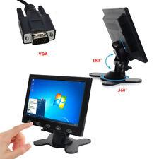 """Ultra Thin 7"""" HD 800x480 TFT LCD Monitor AV/VGA/HDMI Input w/Speaker + Adpater"""