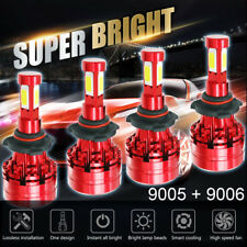 Combo 9005 High 9006 Low Beam LED Headlight 6000K White Total 3000W 450000LM
