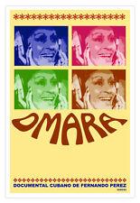 Cuban movie Poster for OMARA PORTUONDO.Cuba Music Diva.Musical studio wall decor