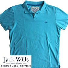 Jack Wills Neon Blue Polo Shirt Large L