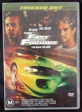 The Fast And The Furious - Tricked Out Edition (DVD, 2002, Region 4) Paul Walker