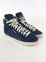 G-Star Raw Ladies Blue Yellow Leather Suede Hi-Top Trainers Shoes Sz UK6 EUR39