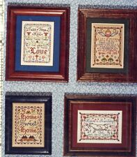 4 One-A-Day Miniature Samplers Vera K Cross Stitch Pattern Leaflet G-3 NEW