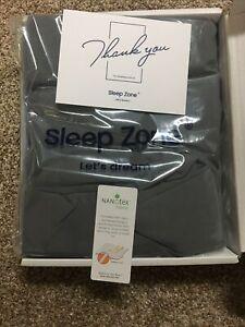 Sleep Zone Grey King Bed Skirt
