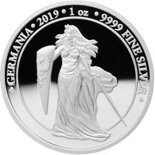 5 Mark Silver Proof Germania 1 Unze oz Silber Silver PP 2019