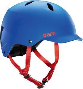 Bern Bandito Kinder Jugend Fahrradhelm Skate BMX Action Helm mattblau / Blue