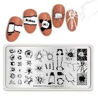 BORN PRETTY Stamping Plates Decompress Theme Nail Art Image Stamp Plate L001 DIY