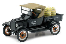 NEW RAY 1:32  DIE CAST  FORD MODEL T PICKUP  1925 NERO E MARRONE  ART  55113A