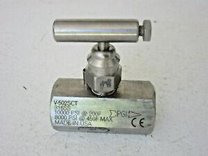 Needle Valves 10000 Psi Maximum Pressure For Sale Ebay