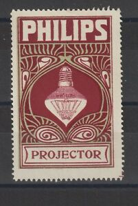 German Poster Stamp Philips Projector Lamp