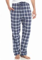 Saddlebred - Mens M -  NWT - Blue Plaid Cotton Flannel Lounge/Sleep Pajama Pants