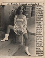 Coupure de presse Clipping 1981 Isabelle Huppert  (1 page)