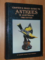 Carter's Price Guide To Antiques In Australia 1986 Edition Carter, Alan  V. Good