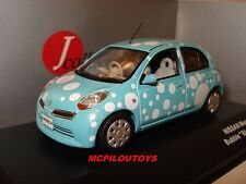 J-COLLECTION JC210 NISSAN MICRA MARCH BUBBLE BLUE VERSION 2007 au 1/43°