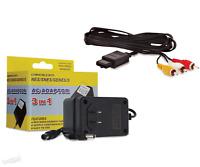 SNES Super Nintendo AV Cable & AC Power Supply Cord - Hookups Bundle - Brand New