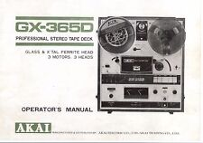 Akai  Bedienungsanleitung user manual owners manual  für GX-365 D