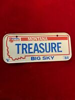 1984 Mini License Plate Wheaties Cereal Bicycle Montana TREASURE Big Sky Vtg
