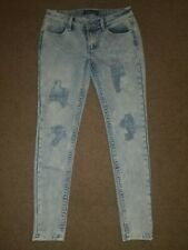 Almost Famous - Distressed Ripped Skinny Jeans - Light Wash - Juniors Size 7