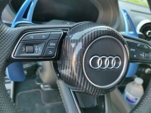 Fit Audi S-Line Carbon Fiber Steering Wheel Cover A3 A4 A5 TT TTS TTRS R8