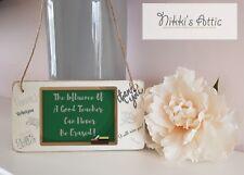 Thank You Teacher Wooden Plaque, Handmade,Sign,School, Nursery,Gift,