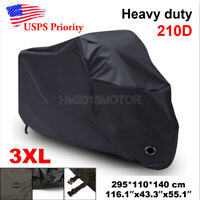 4XL Waterproof Motorcycle Cover For Honda Goldwing Valkyrie Rune GL 1500 1800