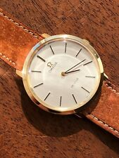 Omega DeVille 9k solid gold caliber 625, textured dial, in almost NOS condition