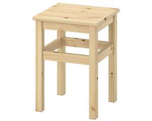 IKEA ODDVAR Hocker Tritthocker Stufenhocker Holzhocker Schemel Massive Kiefer