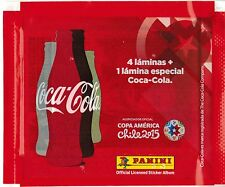 Chile version 2015 Panini Copa America Soccer Sticker Pack Coca Cola Edicion
