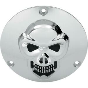 Drag Specialties 3-D Skull Derby Cover Chrome Harley Davidson 70-98 big twin