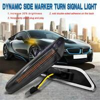 2x LED Side Marker Turn Signal Indicator Lights For BMW 1 3 5 Series X1 X3 E81 +