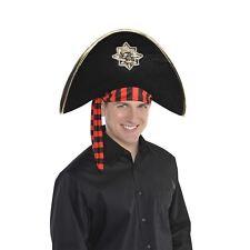 ADULTES NOIR CRÂNE & OS crochet de pirate Capitaine Accessoire Déguisement Pan