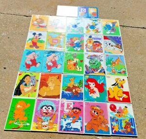 Vtg Lot of 27 PLAYSKOOL Wooden Children's Puzzles Cartoon Characters Disney MORE